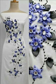 Would be pretty with machine embroidery and beads