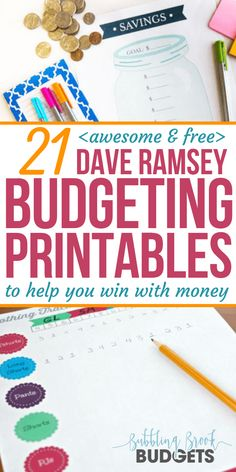 21 Awesome & Free Dave Ramsey Budgeting Printables That'll Help You Win With Money – Finance tips, saving money, budgeting planner Budget Spreadsheet, Budget Binder, Monthly Budget, Making A Budget, Create A Budget, Budgeting Finances, Budgeting Tips, Faire Son Budget, Planning Budget