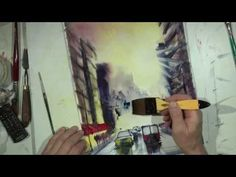 Cityscape sketch for beginners with one focal point - YouTube