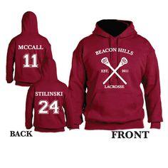 7cd95129b52ad4 Teen Wolf Beacon Hills Lacrosse Hooded Sweatshirt Sports Scott McCall 11  Hoodie Stiles Stilinksi 24 Lacrosse Hoodie