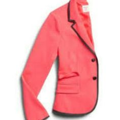 Gap Academy blazer Bright melon colored with black tipping. Great quality. Perfect condition. GAP Jackets & Coats Blazers