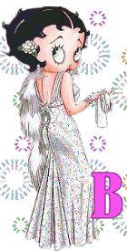 Alfabeto de Betty Boop con fuegos artificiales. | Oh my Alfabetos!