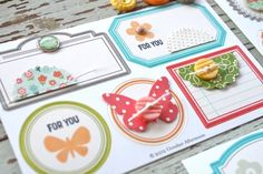 embellishing label stickers by Michelle Wooderson for October Afternoon