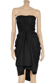 Ruched poplin dress by Thakoon