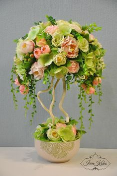 Новости Unique Flower Arrangements, Unique Flowers, Diy Flowers, Flower Decorations, Paper Flowers, Beautiful Flowers, Topiary Centerpieces, Floral Centerpieces, Deco Floral