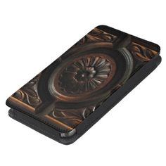Wood Carving Abstract Galaxy S5 Smartphone Pouch