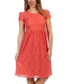 Take a look at this Coral Haley Dress on zulily today!