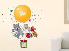 Tom And Jerry Night Light Wall Decals