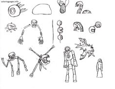 Terraria Moon Lord Coloring Pages 573