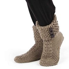 Button Cuff Boots.  Crochet pattern.