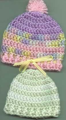 Bev's Easy Round Baby hat. For Massiel... an easy pattern for her to follow as a beginner.