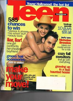 October 2000 cover with Nicholas Brendon & Yammile, the 2000 Great Model Search winner