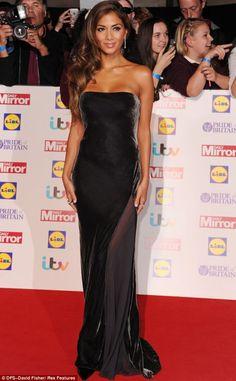 Style queen: Nicole Scherzinger stunned in her velvet dress at the Pride Of Britain Awards on Monday evening
