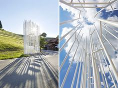 hufton+crow documents disparate bus stops in krumbach, austria