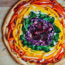 Pizza arcoíris de Del Revés