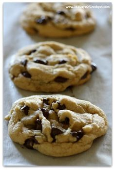 Old Fashioned Chocolate Chip Cookies that are soft, chewy and simple to make with no mixer