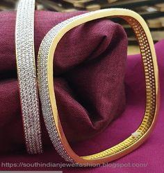 Dazzling Bangles To shop in Online Bridal Bangles, Bridal Jewelry, Gold Bangles Design, Jewelry Design, Ruby Jewelry, Gold Jewelry, Bangle Set, Bangle Bracelets, Diamond Bangle