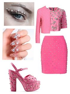 """""""Making fun of rhinestone stuff"""" by foreverwithanime ❤ liked on Polyvore featuring mode, Emanuel Ungaro en Moschino"""