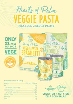 our new vege, keto friendly pasta from hearts of palm