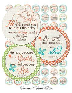 NEW - CHRISTian Scripture 5 (1 inch Round) Bottlecap Images Digital Collage Sheet BUY 2 GET 1 Sale- printable sticker magnet button