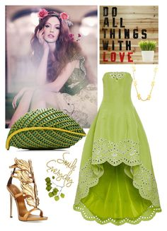 """""""THE POWER OF GREEN"""" by adelinetaylor ❤ liked on Polyvore featuring Giuseppe Zanotti, Nancy Gonzalez, Chanel and Dot & Bo"""
