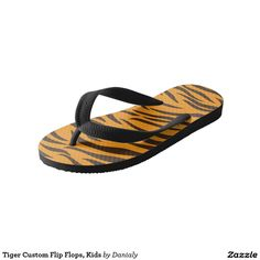 Tiger Custom Flip Flops, Kids