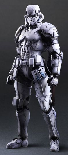 Square Enix has designed a new line of Star Wars figures. Darth Vader, Boba Fett, and the generic Imperial stormtrooper have all been given a makeover Star Wars Sith, Rpg Star Wars, Star Wars Boba Fett, Clone Wars, Twilight Princess, Stormtroopers, Jouet Star Wars, Figuras Star Wars, Space Opera