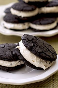 Brownie Cookie Dough Sandwiches