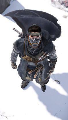 Twitter - GameonFocus Ronin Samurai, Samurai Warrior, Fantasy Samurai, Character Design Animation, Character Art, Ghost Armor, Futuristic Samurai, Samourai Tattoo, Game Art