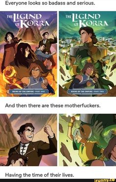 Everyone looks so badass and serious. Having the time of their lives. Avatar Ang, Korra Avatar, Team Avatar, Avatar The Last Airbender Funny, The Last Avatar, Avatar Airbender, Avatar Cartoon, Avatar Funny, Atla Memes