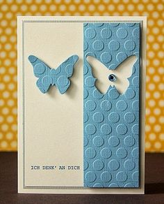 Simple yet effective and gorgeous! scrapperia: WCMD im SBT Cute Cards, Diy Cards, Your Cards, Tarjetas Diy, Karten Diy, Embossed Cards, Butterfly Cards, Sympathy Cards, Creative Cards