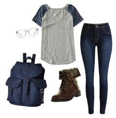 """""""Ready for College"""" by laura-rathbone on Polyvore featuring Aéropostale, Refresh and Herschel Supply Co."""