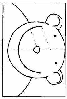 how to make: the bear's pop-up card Paper Cards, Diy Cards, Cuento Pop Up, Arte Pop Up, Libros Pop-up, Tarjetas Pop Up, Paper Bag Crafts, Card Patterns, Mothers Day Crafts