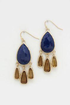Tibbie Earrings in Navy on Emma Stine Limited