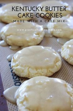 #dessert #cookies #yummy All of the buttery flavors of the traditional Kentucky Butter Cake but in a cookie that is made with a cake mix. Cookies Cupcake, Yummy Cookies, Cupcakes, White Cake Mix Cookies, Cream Cookies, Homemade Cookies, Chip Cookies, Birthday Cake Cookies, Butter Sugar Cookies