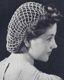 Vintage Crochet Pattern To Make Snood Hairnet Hair Net Fishnet Traditional Style Filet Crochet, Crochet Snood, Crochet Cross, Crochet Hair Accessories, Crochet Hair Styles, Vintage Knitting, Vintage Crochet, Crochet Designs, Crochet Patterns