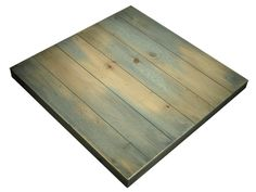 Reminiscent of a Cape Cod, Clapboard Cottage, this table evokes the feel of the New England Coast or a Caribbean Dock.