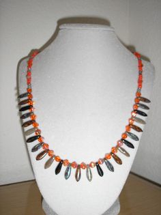 Tangerine Dreams/Tangerine glass with AB by CreationsbyMaryEllen, $13.50