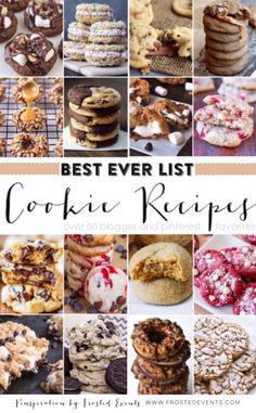 Best Cookie Recipes from Pinterest- Cookie Exchange www.frostedevents.com  Find a cookie recipe that everyone will rave over at this years Christmas cookie exchange. #recipe #cookies