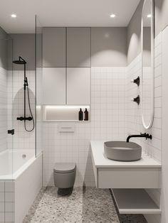 Relaxing Bathroom, Small Bathroom, Bathroom Ideas, Modern Bathroom Design, Bathroom Interior Design, 2020 Design, Apartment Interior, Interior Architecture, Vanity