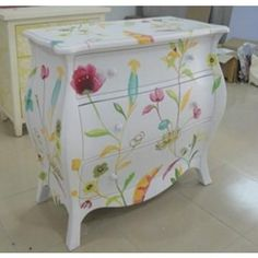 This beautiful handpainted chest would brighten up any little girl's room.  It could even start in the nursery and grow with her.