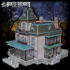 Haunted Mansion http://disneyhispana.blogspot.com/2013/01/juego-de-disney-recortable.html