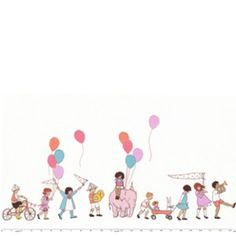 {Fabric} On Parade in Multi (Sarah Jane - Children at Play)