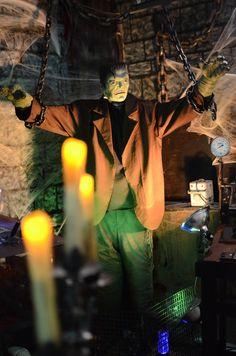 The monster in frankensteins lab monster ideas halloween props