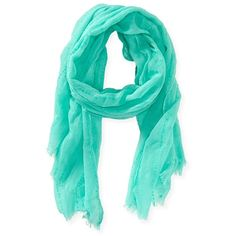 Aeropostale Dobby Scarf ($5.99) ❤ liked on Polyvore featuring accessories, scarves, ocean mist, beach shawl, aéropostale and aeropostale scarves