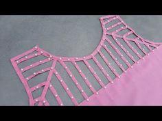 Most Beautiful Western Neck Design//Sajid Alvi – dressideas Chudidhar Neck Designs, Neck Designs For Suits, Neckline Designs, Dress Neck Designs, Stylish Dress Designs, Stylish Blouse Design, Fancy Blouse Designs, Kurta Neck Design, Saree Blouse Neck Designs