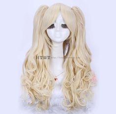 {Free Shipping} Cosplay Lolita Light Gold Ponytail Wig