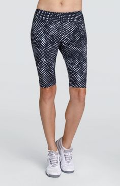 "#lorisgolfshoppe Women's Golf Apparel offers a classy collection of golf skorts, shorts, dresses, and golf tops. You gotta see this SPECIAL BETTER THAN BASICS (Whirl Dark) Tail Ladies Zarine 21"" Outseam Pull On Golf Shorts with unique , pretty prints and colors!"