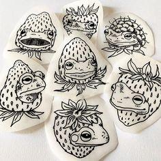 Frog Tattoos, Body Art Tattoos, Sleeve Tattoos, Tatoos, Doodle Tattoo, I Tattoo, Ink Doodles, Insect Tattoo, Tattoo Feminina