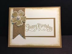 A Flower Shop Birthday Burlap Ribbon Stampin' U! Rubber Stamping Handmade Cards Stamp a Stack